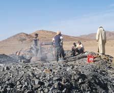Figura 6. Excavación de una khettara de montaña.