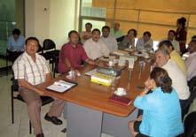 Figura 5. Alcaldes y Oficina Técnica de AMICTLAN presentando la problemática de la Laguna de Apoyo en la Comisión de Medio Ambiente de la Asamblea Nacional de Nicaragua.