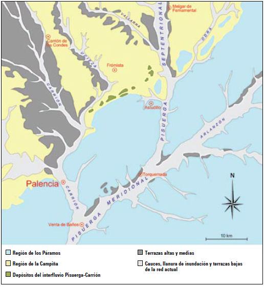 Figura 1. Esquema geomorfológico del área.