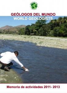 Memoria de Actividades de Geólogos del Mundo 2011 - 2013