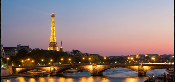 Taken from the Ponte Alexandre III on the last night of our visit.