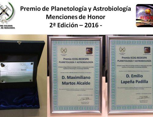 Profesores, alumnos y colegas en la clausura y entrega de premios del Curso online de Planetología y Astrobiología