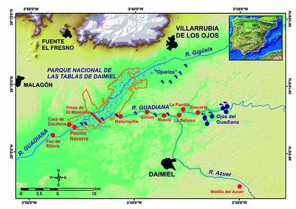 Resultado de imagen de mapa tablas de daimiel