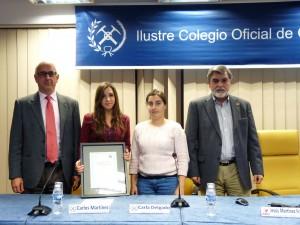 Cristina Robas, ganadora del concurso sobre Marte que estaba asociado con el Curso.